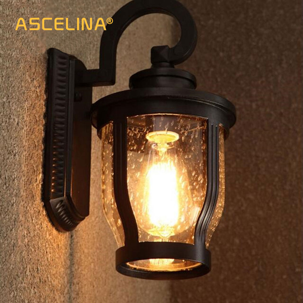 Modern Kerosene Lamp Us 71 4 Loft Antique Waterdrops Waterproof Design Light Shade Wall Sconce Modern Kerosene Lamp Outdoor Lighting Edison Vintage Bulbs In Led Indoor