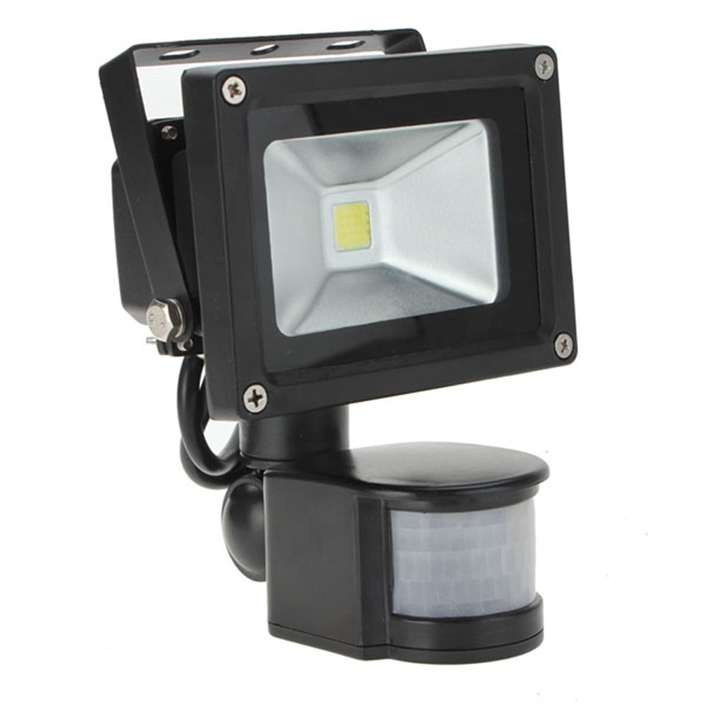 outdoor lighting floodlights 10w 30w white 800lm pir motion sensor