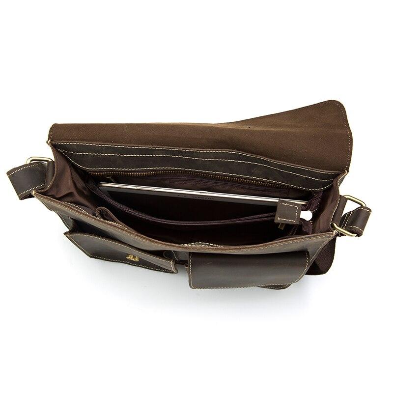 Westal voyage épaule affaires messager femmes hommes sac véritable mallette en cuir pour Document sac à main mâle femme ordinateur portable tablette - 2