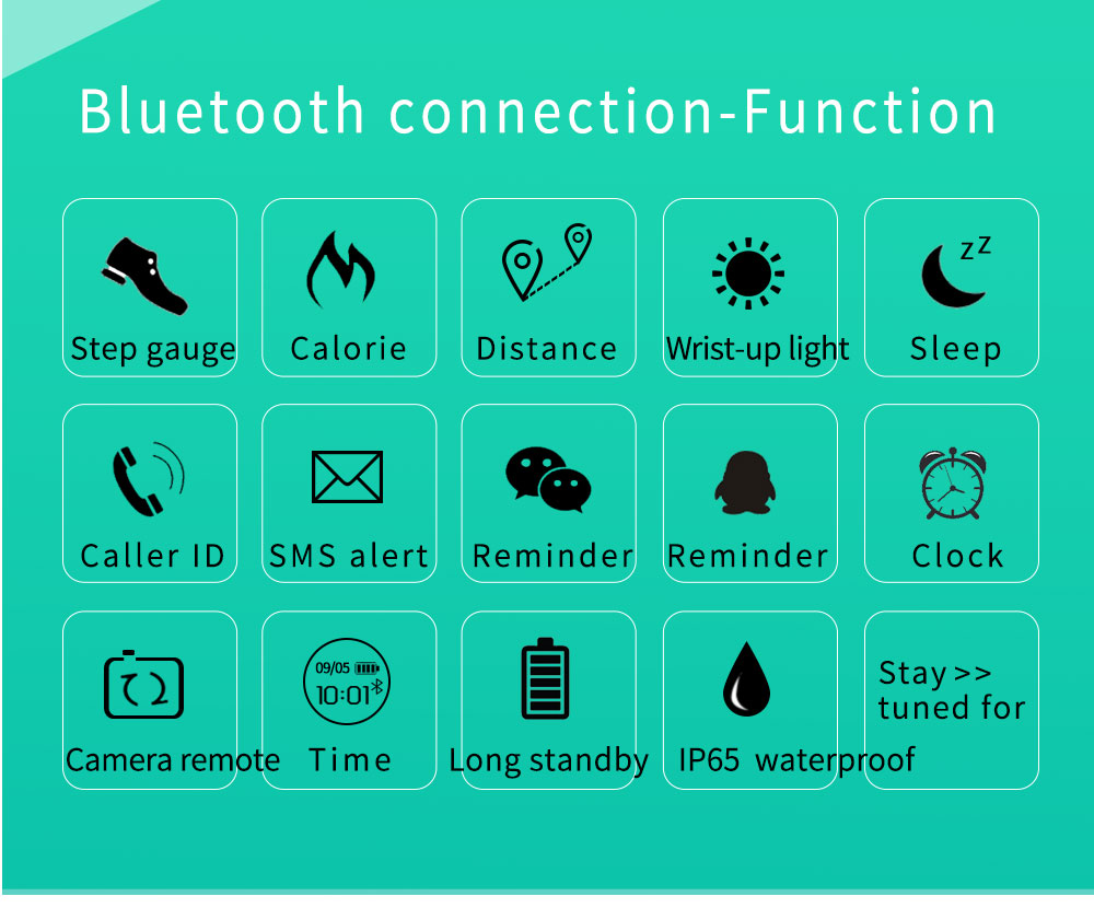 Reloj inteligente podómetro Bluetooth 5