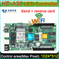 Full Color Cartão de Controlador Assíncrono, HD-A30 WiFi display grande cartão de envio, DIY LEVOU controlador de tela