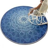 Mysterious Bohemia style decoration carpet 140cm , round shaped ground mat , non slip blue chair mat ,floor carpet ,door mat