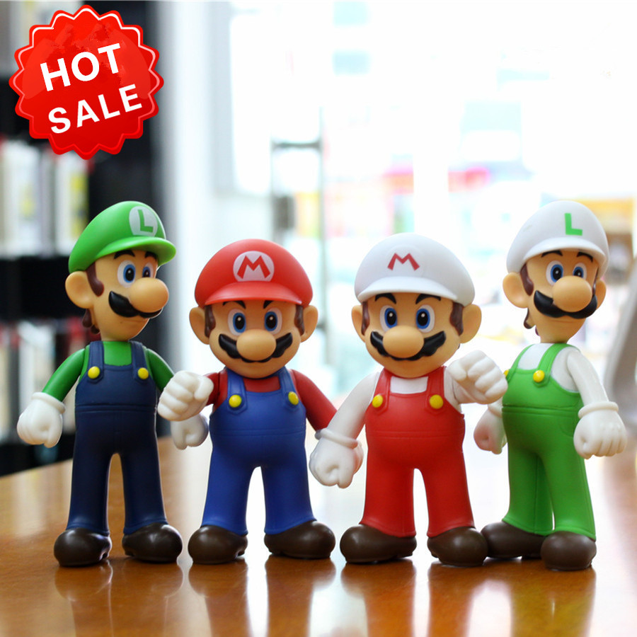 Super Mario Figures Toy 9'' PVC Cartoon Super Mario Bros Action Figure Doll For Collection Kids Toys Christmas Gift super mario bros action pvc figure toys 2 options 9pcs set 12cm height for xmas gift