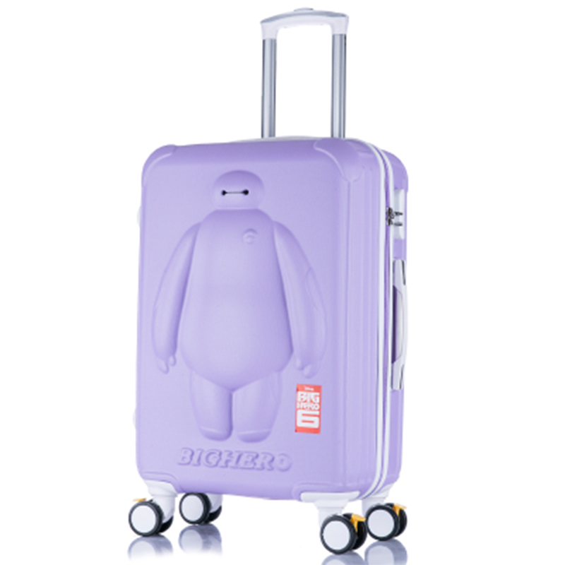 Lovely Big Hero 6 children 20/24 inch students cartoon trolley case 3D child Travel luggage BayMax rolling suitcase Boarding box 21 inch students scooter suitcase boy cool trolley case 3d extrusion high quality pc separable travel luggage child boarding box