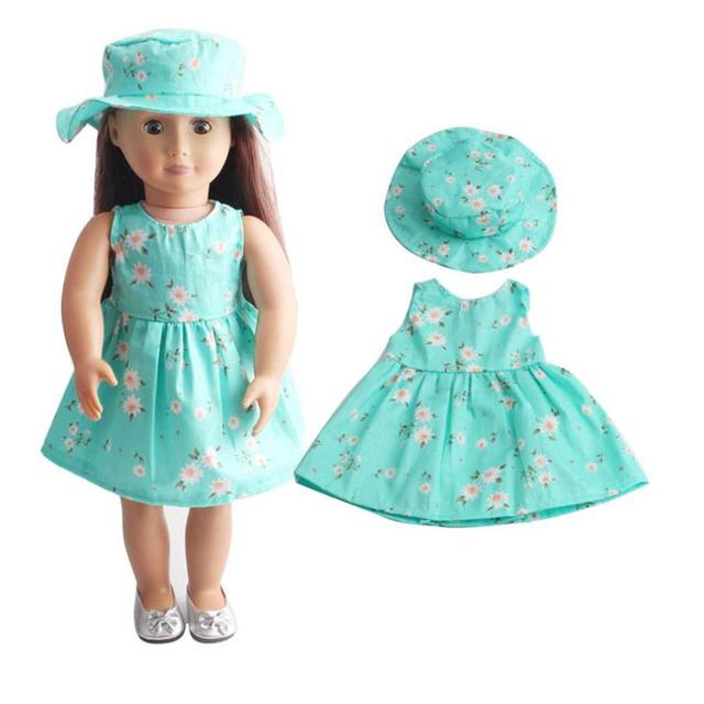 Skirt&Hat For 18 inch Our Generation American Girl Doll Accessories Drop Shipping Y0102