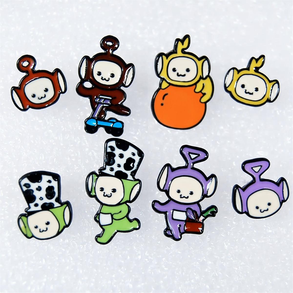 Teletubbies Ivyye Moda Dos Desenhos Animados Anime Brinco Animal