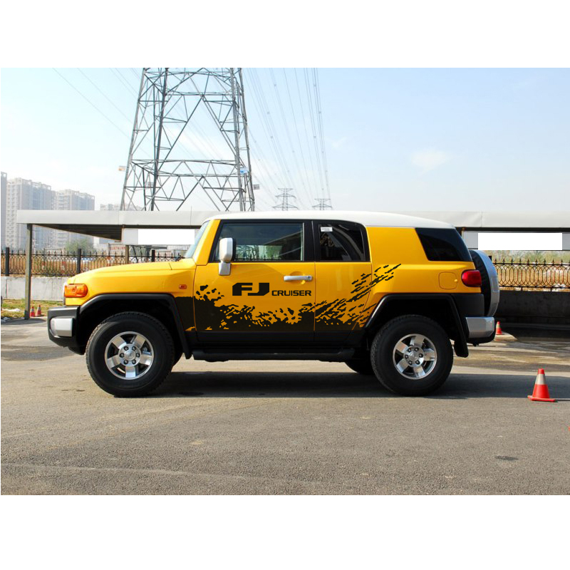 Наклейки на тело автомобиля брызг грязи виниловая графика крутые внедорожные автомобильные наклейки для toyota fj cruiser 2006 2019