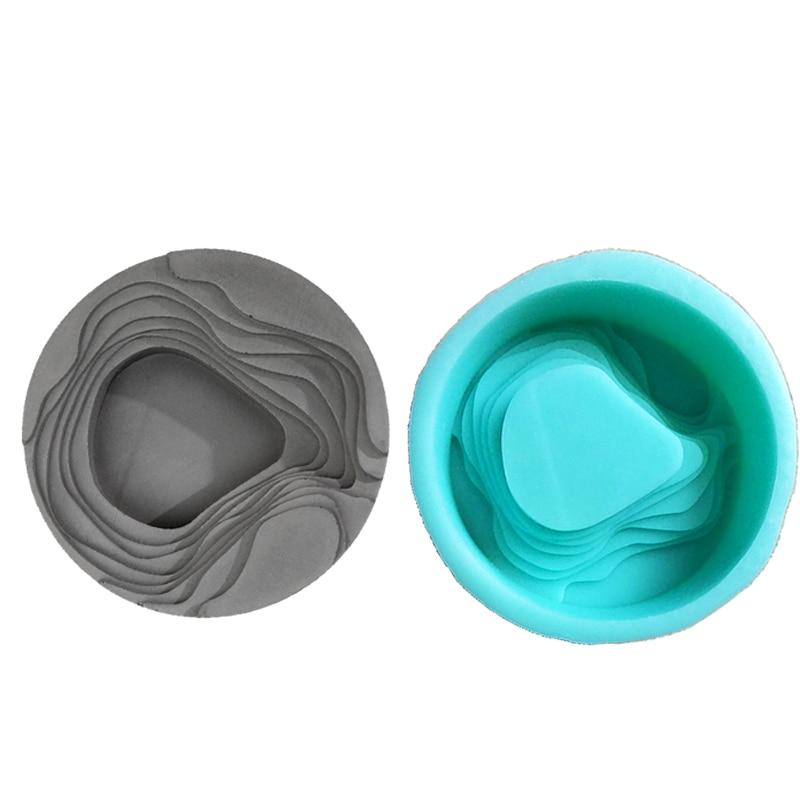 silikonová forma Cement popelník konkrétní umění popelník skladovací deska Terasové pole design cement života dodává plísně