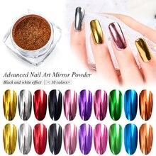Super Shine Nail Glitters Mirror Titanium Powder Rose Gold S