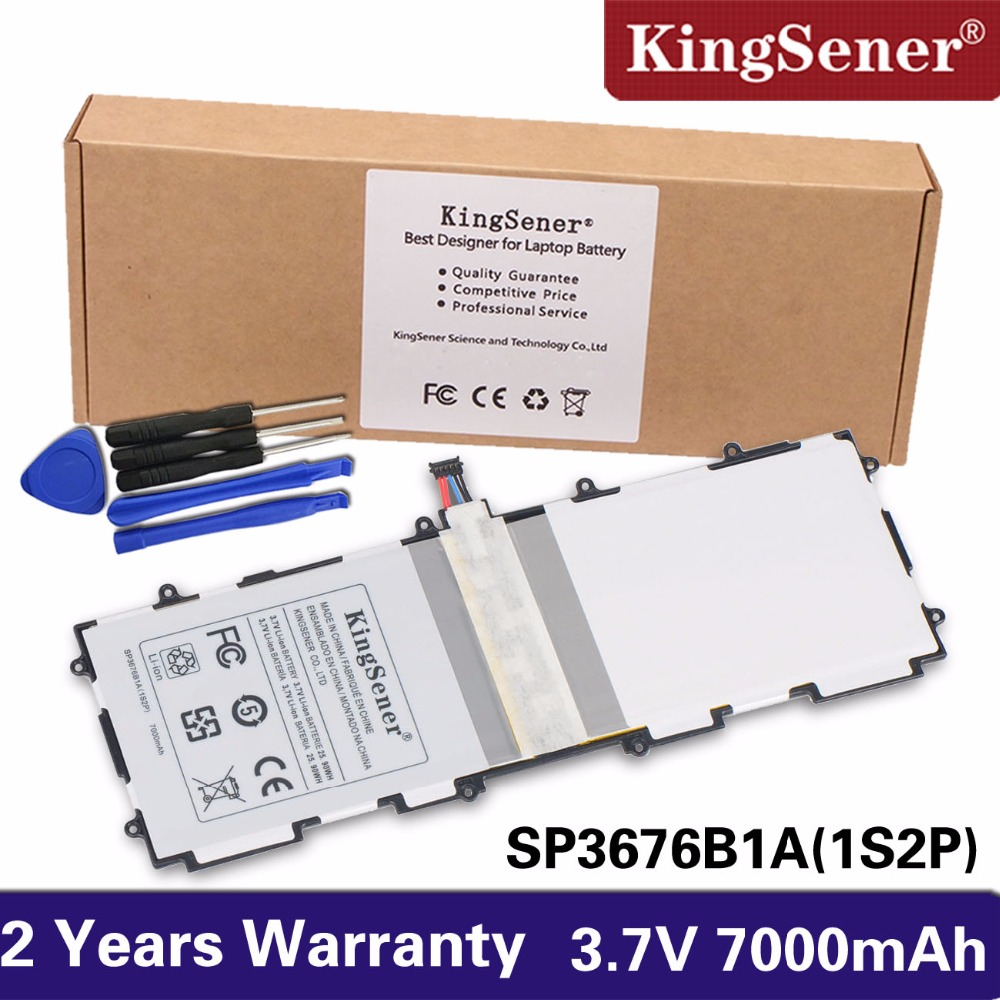 Kingsener Sp3676b1a (1s2p ) For Samsung Galaxy Note 10.1 Tab 2 P5100 P5110 P7500 P7510 N8000 N8010 N8013 Tablet Battery 7000mAh