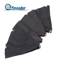 SPEEDWOW Universal cuero corto cambiador collares rojo amarillo azul negro Stitch Shifter Boot Cover MT/AT
