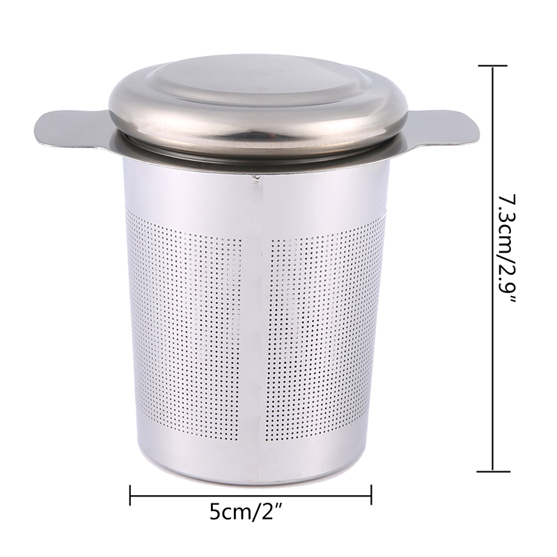 Pawaca Reusable Stainless Steel Tea Infuser Basket with Lid Cover 2 - Kitchen, Dining and Bar - Photo 2