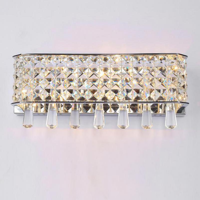 Lights & Lighting Led Indoor Wall Lamps Crystal Wall Lamps Crystal Led Wall Light Lamp With Fabric Shade Led Wall Sconce Arandela De Cristal For Home Indoor Lighting