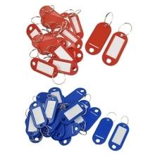 Key ID Label Tags Split Ring Keyring Keychain 20 Pcs Red & Blue