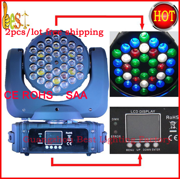 2018 New led beam 36x3w moving head light stage rgbw beam led lighting fast shipping