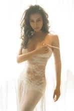 JiaHuiGe White Lingerie Women Sexy Lingerie Dress Transparent Lace Hollow Night Wear Sexy Ladies Lingerie Nightwear Underwear