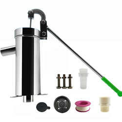 Stainless Steel Home Manual Water Pump Domestic Oil Pump Well Hand Shake Suction Pump Thickness 1.3MM Lift 10M Y