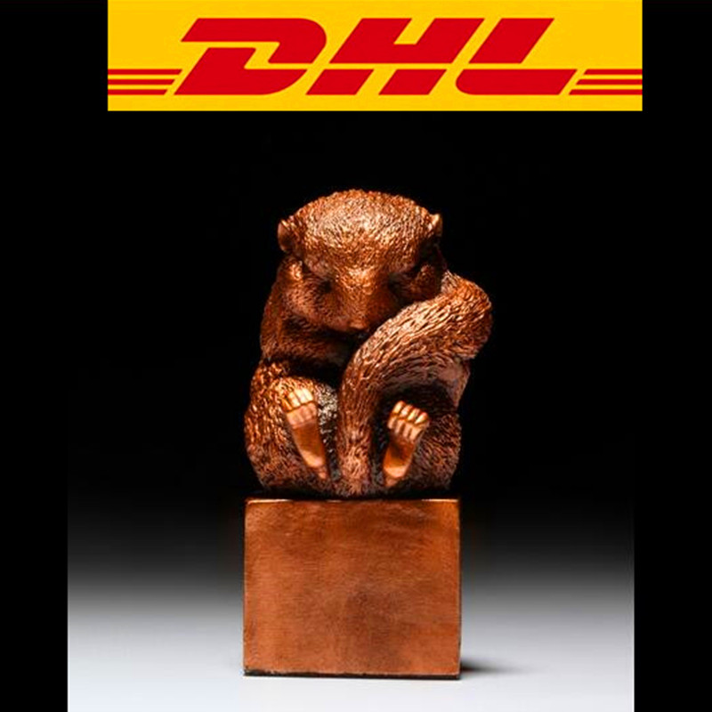 Bronze Dormouse Statue Crafts Mouse Seal Home Decoration Vivid lovely Production Action Figure Collectible Model Toy Boxed T96 s3886 chinese buddhism bronze kwan yin songziyuan guanyin bodhisattva boy god statue