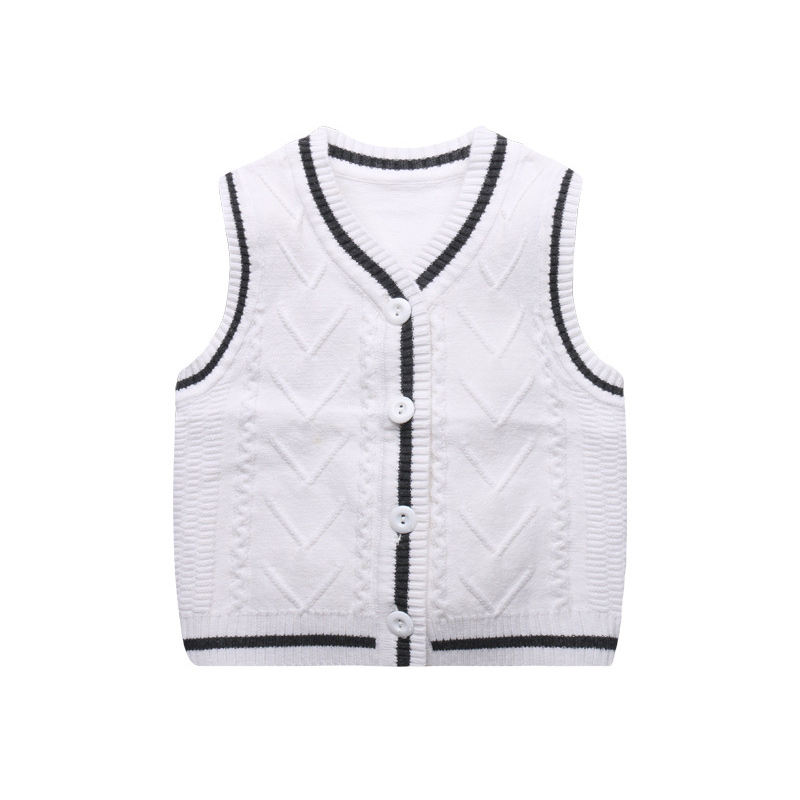Knitted Baby Boys Vest Sweater 6-18M Todder Baby Sweater Vest V-Neck Classic Boys Girls Sweater Spring Autumn Baby Boy Clothing