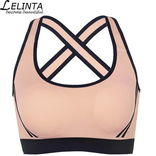 27cd0e2a72 placeholder LELINTA 5 Colors Sport Bra For Women Gym Running Yoga Sport Bra  Girl Underwear Nylon Spandex