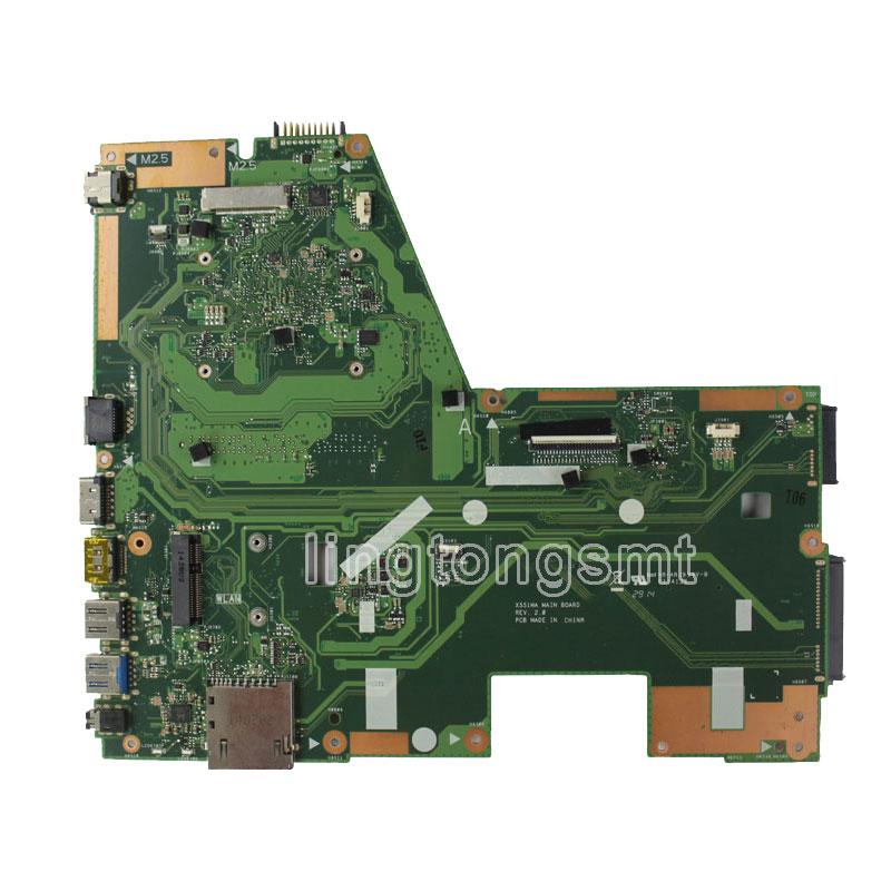 Для ASUS X551MA D550MA F551MA материнской X551 X551M X551MA плата REV2.0 DDR3 процессор N2815U испытанное хорошее