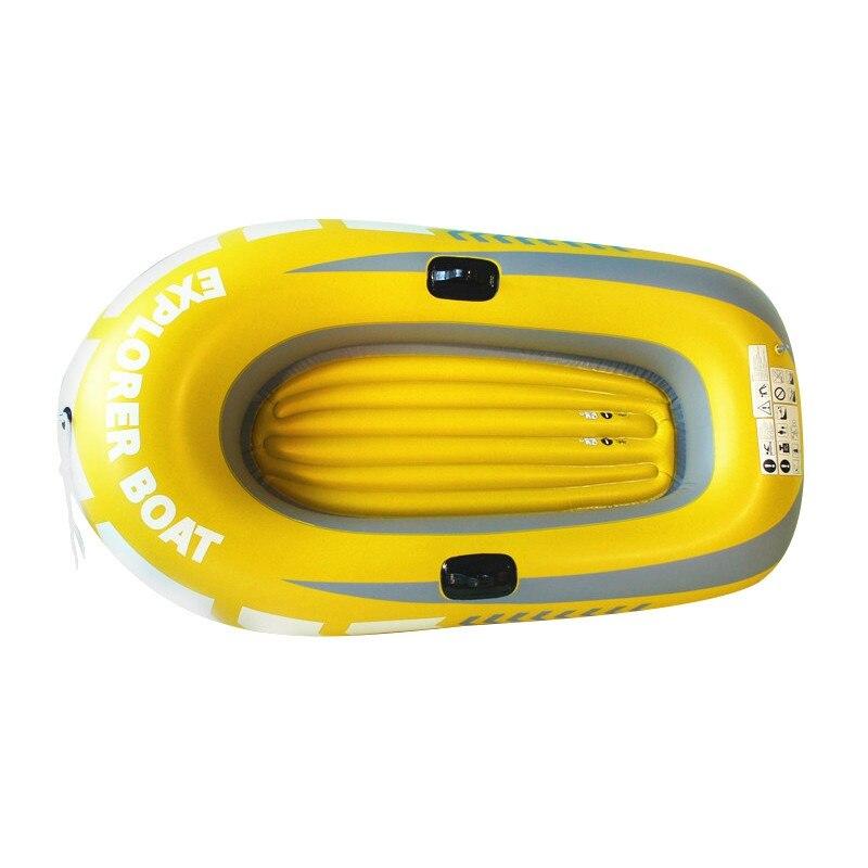Bateau en caoutchouc bateau gonflable PVC noir confort poignées accessoires en caoutchouc gonflable 2/3/4 personne kayak marine eau île pêche