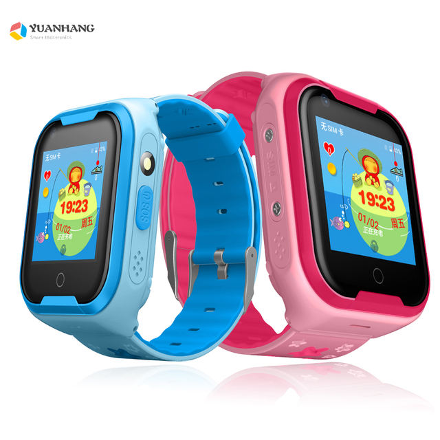 4ef274a55b12 IPX7 Waterproof Smart Android 4G Camera GPS WI-FI Kids Child Wristwatch SOS Video  Call Monitor Tracker Location Whatsapp Watch