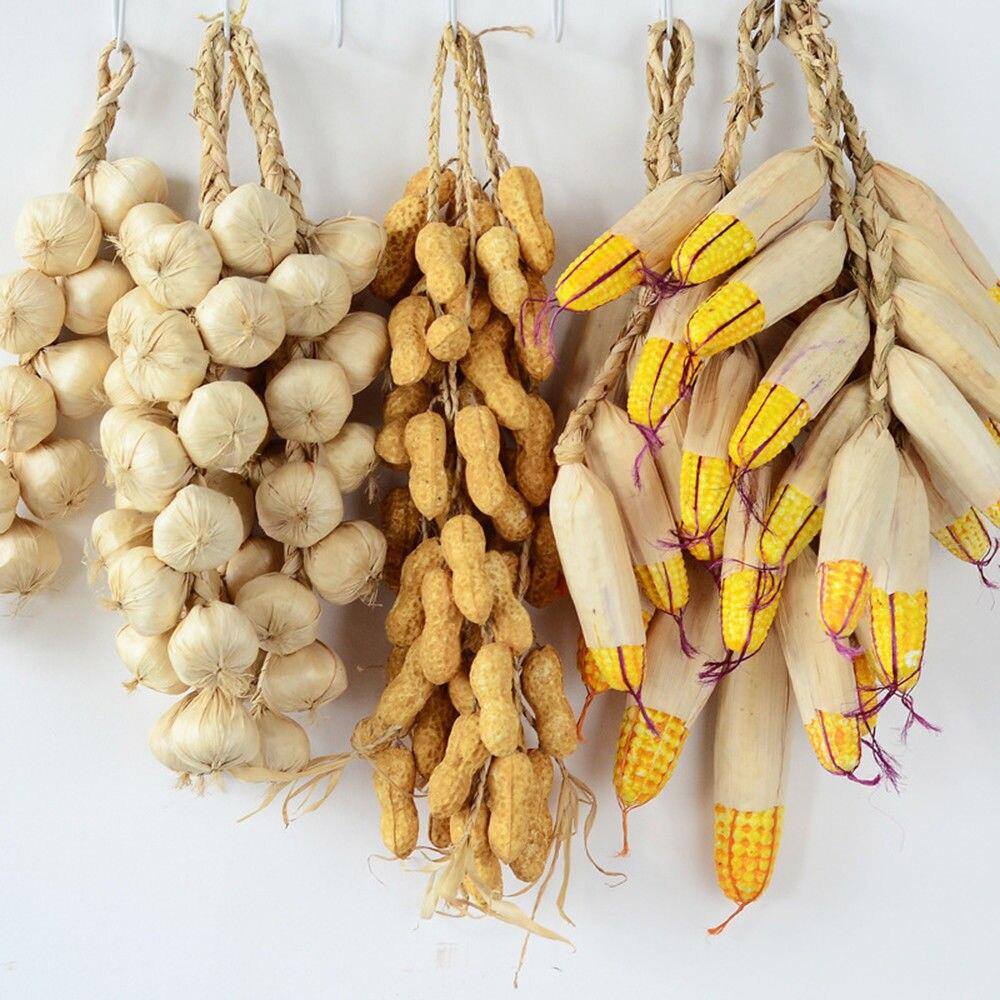 Künstliche Schaum Gemüse Anlage Knoblauch Gefälschte Zwiebel Mais Fische Hängen String Hause Dekoration Fotografie Requisiten