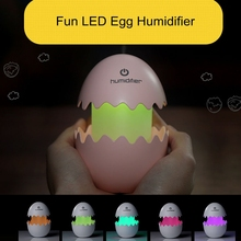 Creative LED Fun Egg Air Humidifier Colorful LED Night Light Home Car Air Purifier Mini Humidifier for Car Home Office Baby