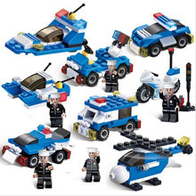 1 Pcs Random Send Lepin Assembled ABS Building Blocks City Police Military Fire Fighting Engineering Car Brick Toys For Children(China)