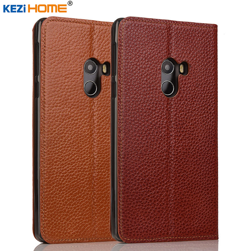 Xiaomi mi Mix case KEZiHOME Litchi Genuine Leather Flip Stand Leather Cover capa For Xiaomi MIX Pro Phone cases coque