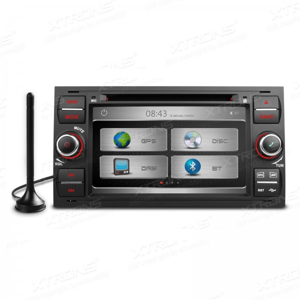 7 Special Car DVD for Ford C-Max 2007-2009 & Fusion 2007-2011 & Kuga 2008-2011 & Mondeo 2003-2008 with Built-in DAB+ Tuner
