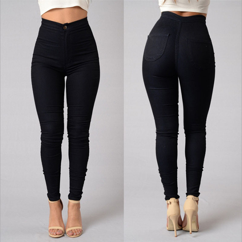 Detail Feedback Questions about Womens Candy Pants Pencil Black Trousers  2018 Spring Fall Stretch Pants For Women Slim Ladies Jean Trousers Female  on ... e7433872f930
