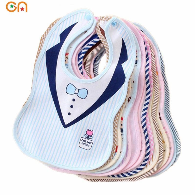 0-3 yrs baby fashion cotton bibs Infant Saliva Towels Newborn Burp Cloths apron Girl Boy gentleman Lady style waterproof Bib CN