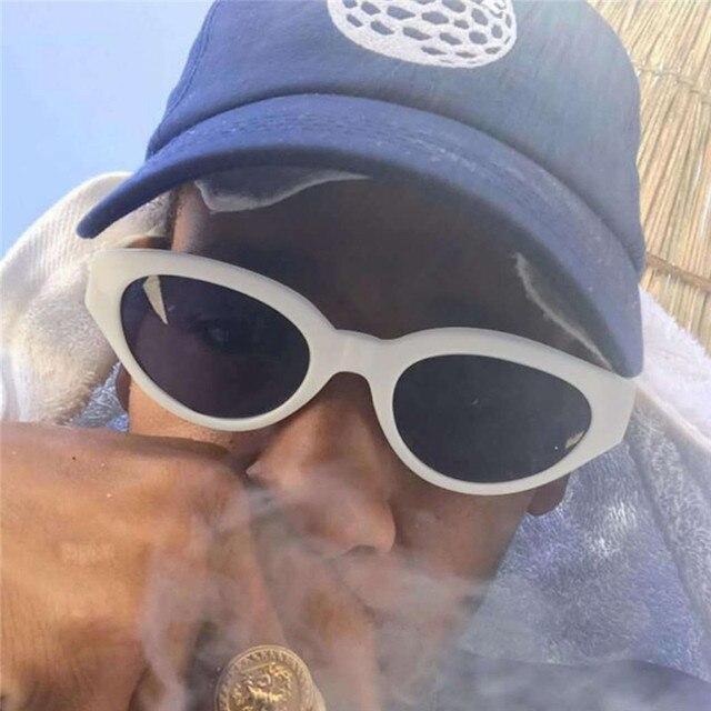 008cfa275c Hip Hop Mens Cat Eye Sunglasses Retro Vintage Kurt Cobain Sun Glasses For  Women 2018 Brand