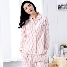 2016 women selling cotton pajamas trousers of spring, summer, autumn long  leisurewear suit Free home delivery