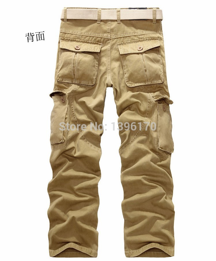 MIXCUBIC brand army tactical pants Multi-pocket washing 100% cotton army green camouflage cargo pants men plus large size 28-40 20