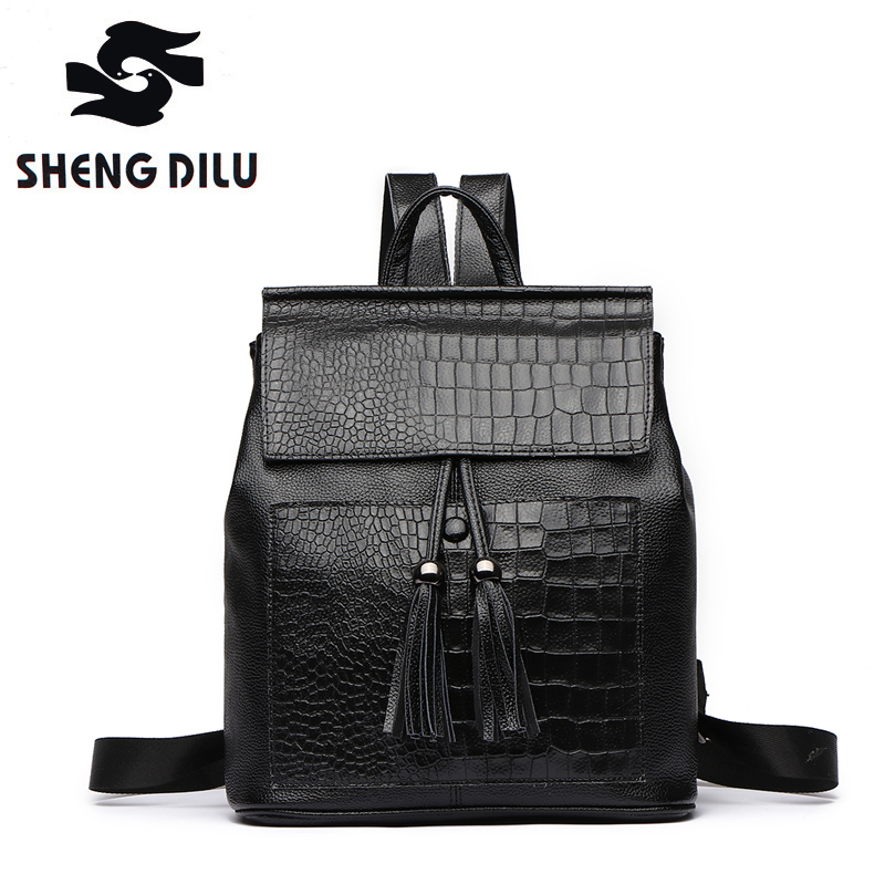 New 2017 100% Real Soft Genuine Leather Women Backpack Woman Korean Style Ladies Strap Laptop Bag Daily Backpack Girl School luyo 100% soft genuine leather women backpack for girls youth woman ladies laptop bag daily backpack school sac a dos travel