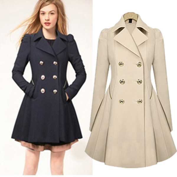 4b341ce6bce S XXL Plus Size Trench Winter Coat for Women Double Breasted Slim  Windbreaker Female Desigual Long Coat Femme Ladies Trenchcoat-in Trench  from Women s ...