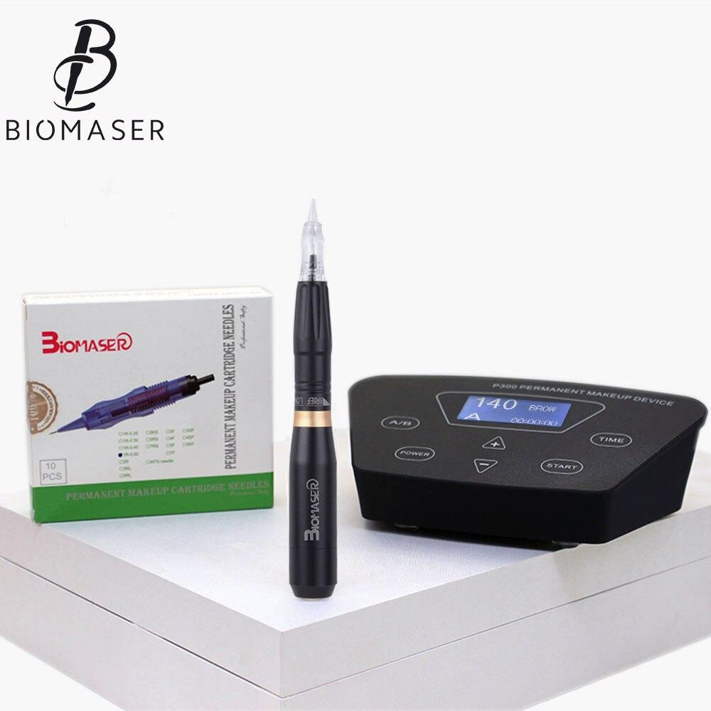 Biomaser Профессиональный бровей татуировки ручка для постоянный макияж бровей Microblading Макияж DIY Kit с татуировки иглы