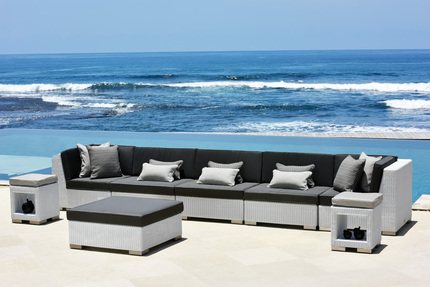 New Designs Pe Rattan Modern Mobile Home Center Circular Furniture