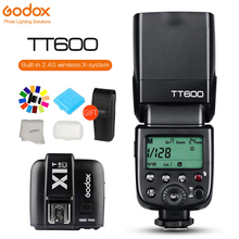 Godox TT600 2.4G Wireless Camera Flash Sync Speedlite + X1T Transmitter TTL Wireless Remote Flash Trigger for Canon Nikon Sony triopo tr 988 professional speedlite ttl camera flash with high speed sync for canon and nikon digital slr camera