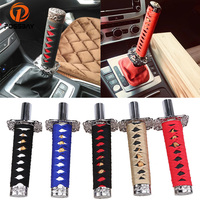 POSSBAY 21/26cm Car Modification Gear Shift Knob Samurai Sword Gear Lever Knob Shifter Manual Transmission Handbrake Grips