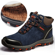 Winter Warm Boots Men Hiking Shoes Waterproof Leather Climbing & Fishing New Popular Outdoor High Top
