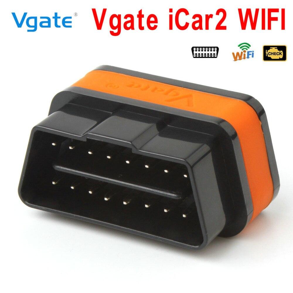 Vgate Mini ELM327 iCar2 Wifi OBD2 Solution Professionnelle Scanner Lecteur de Code ELM 327 OBD 2 OBDII Auto Voiture Outil De Diagnostic adaptateur