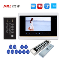Free Shipping 1 0MP 720P AHD 7 Video Door Phone Intercom Record Screen Keypad RFID Unlock