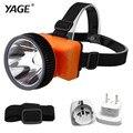 Yage luz cabeça lanterna led head lamp para a pesca de alta-luz farol interruptor especializada lâmpada ao ar livre com bateria nova 5592e