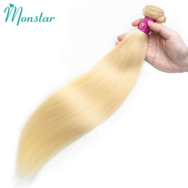 Haarverlängerungen Ernst Monstar 1/3/4 613 Blonde Gerade Haar Bundles Peruanische Remy Menschenhaar Verlängerung Honig Blonde Bundles 8-40 Zoll Freies Verschiffen Noch Nicht VulgäR