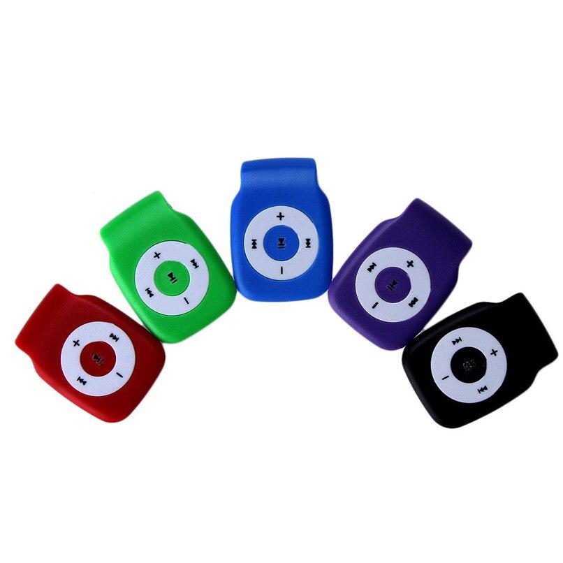 5 colores de alta calidad de sonido en ejecución Mini Clip Metal USB - Audio y video portátil