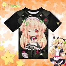 Moeyu Anime Kawaii Moeyu-chan T-shirt Polyester T Shirt Summer Active Animation Men Women Clothing